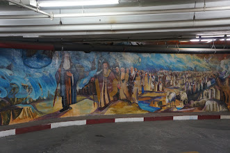 Photo: Underground Parking Mural of Old Testament story