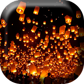 Flying Hot Air Lanterns Live W