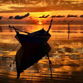 orange sunrise by Pras Manan - Landscapes Sunsets & Sunrises