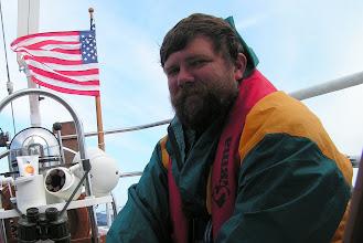 Photo: Глеб на фоне флага/Gleb and flag