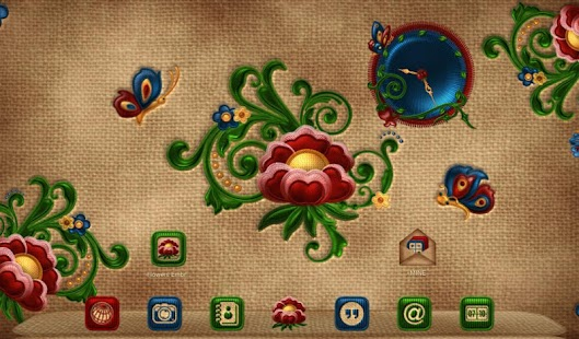 NEXT TSF  Smart LAUNCHER FLOWERS  EMBROIDERY THEME- screenshot thumbnail