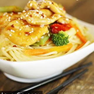 Low Calorie Sesame Chicken Stir Fry