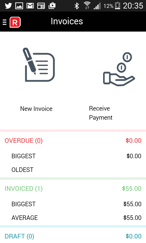 Invoices- screenshot