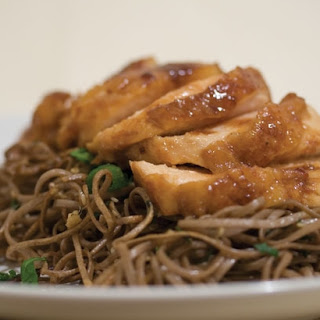 Teriyaki Chicken with Crispy Soba Noodles.