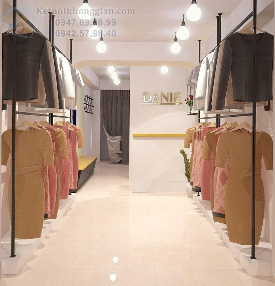 thiết kế shop thời trang phong cách đơn giản