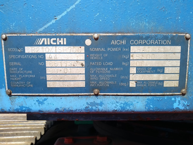 Picture of a AICHI SR210