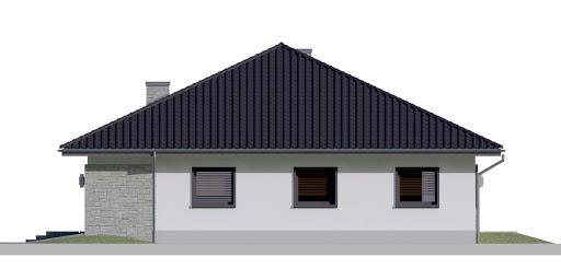 Dom przy Rubinowej 5 - Elewacja prawa