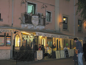 Photo: Cafe in the piazza Victor Emmanuel, Taormina
