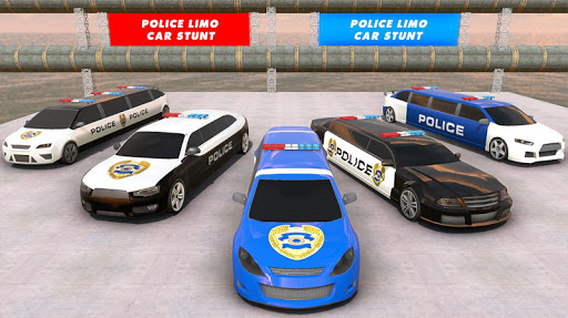 Police Limo Car Stunts GT Racing: Ramp Car Stunt modavailable screenshots 6