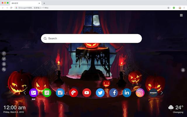 Halloween New Tab Theme HD