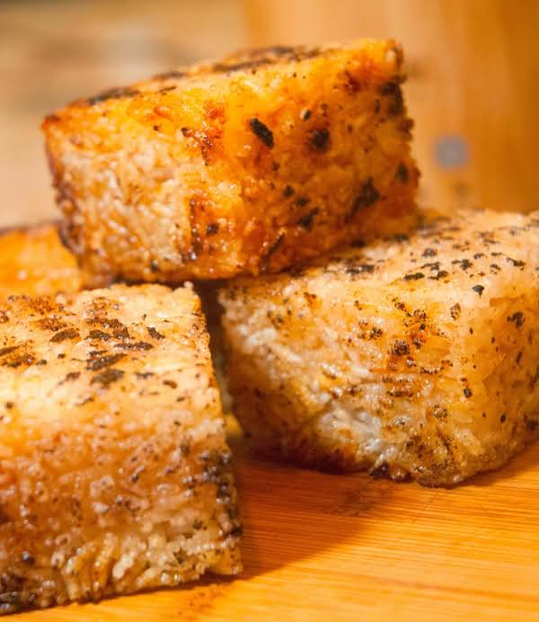 Crispy Asian Rice Squares With Sauce Variations Recipe