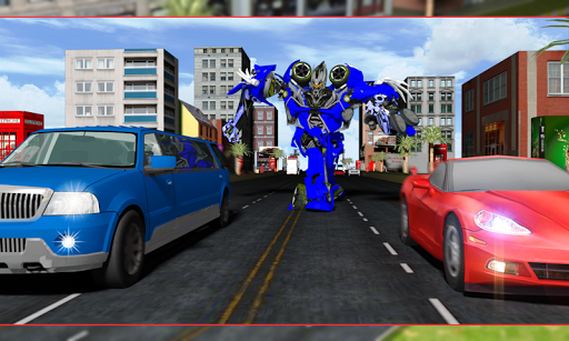 Robot Transform Traffic Racer