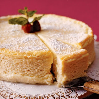 Oven Baked Ricotta Cheesecake.