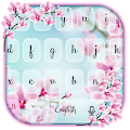 Pink Orchid Flower SMS Keyboard Theme APK