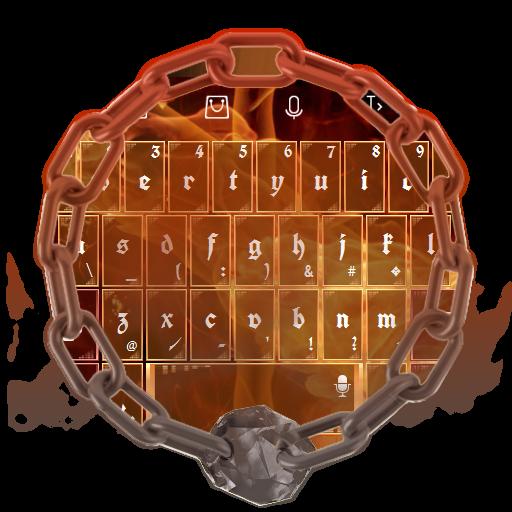 橘黃色的火焰 TouchPal 個人化 LOGO-玩APPs