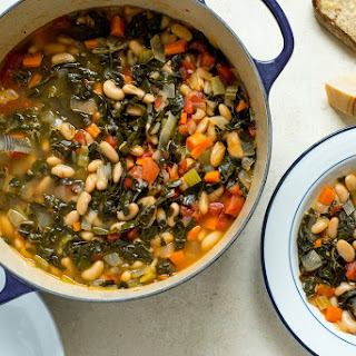 Kale and Cannellini Bean Stew.