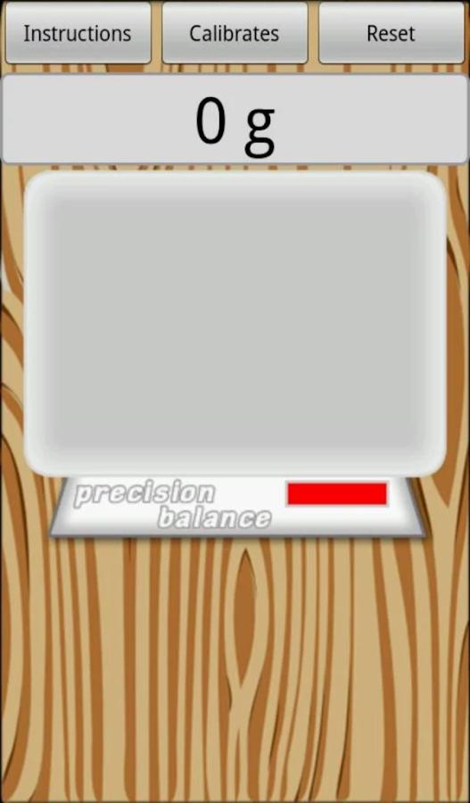 Precision digital scale- screenshot