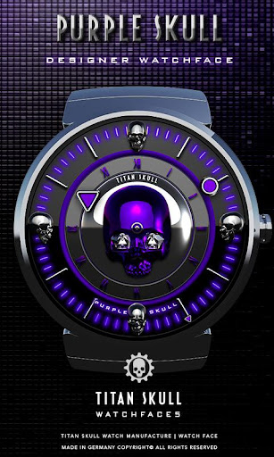 Purple Skull Watch Face