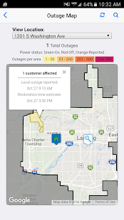 Lansing BWL Outage Center- screenshot thumbnail