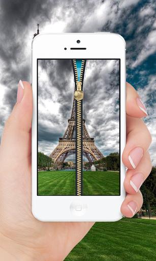 Rainy Paris Lock Screen Zipper