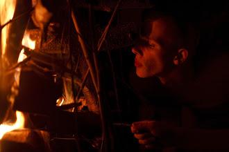 Photo: muž ohňa