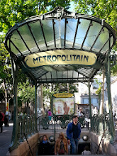 Photo: One of only two remaining Art Nouveau stations designed by Hector Guimard in Paris (the other is at Porte Dauphine). Has ridiculous number of stairs going down.