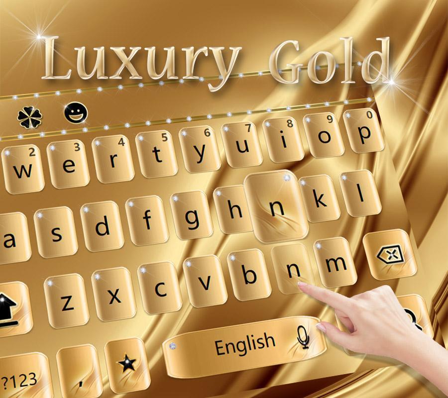 Screenshots of Luxury Gold Keyboard Theme for iPhone