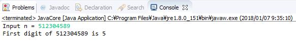 Java - Tìm chữ số đầu tiên trong số nguyên