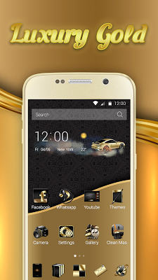 Luxury Gold Theme - screenshot
