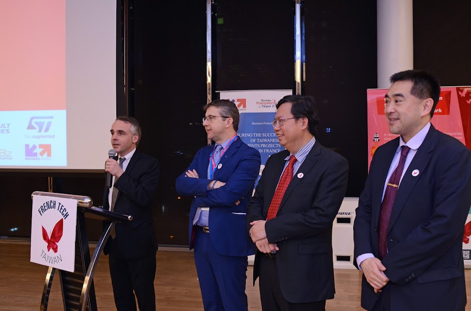 L to R: B. Guidée /Dir. French Office in Taipei; C. Ferrari /President Grenoble Metro; Cheng Wen-Tsan /Mayor of Taoyuan; Tommy Lin /VP of Hua Nan Bank