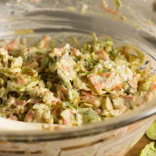 Brussels Sprouts Greek Yogurt Coleslaw Recipe