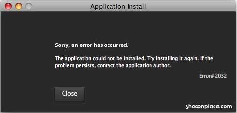 Adobe Installer Error