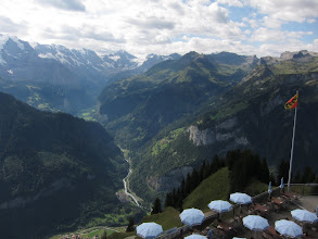 Photo: ... that offers fine views of the Lauterbrunnen Valley, where we  will end up in a week.