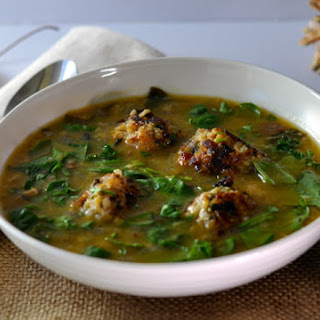 Italian Wedding Soup with Crusty Cannellini & Kale