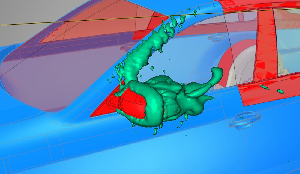 ANSYS - Разработчики могут изменить форму зеркала заднего вида и мгновенно увидеть влияние изменений на аэродинамические характеристики