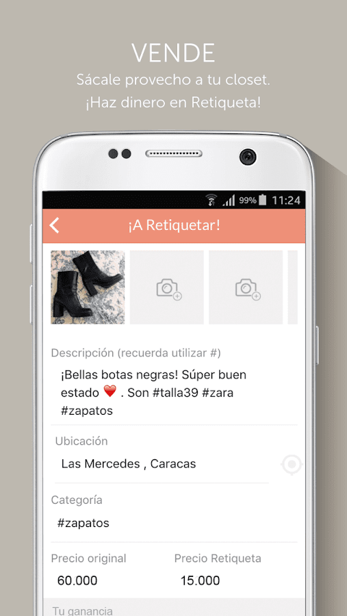 retiqueta- screenshot