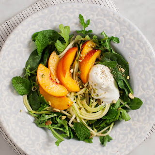 Peach Salad with Mint & Pistachios Recipe