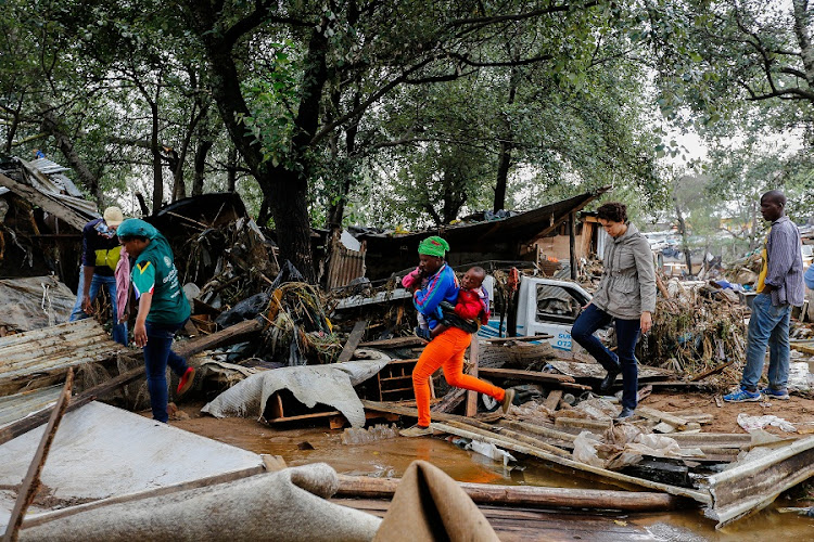 Stjwetla residents started picking up the pieces after flash floods in Alexandra, Johannesburg. File Picture: MOELETSI MABE/SUNDAY TIMES