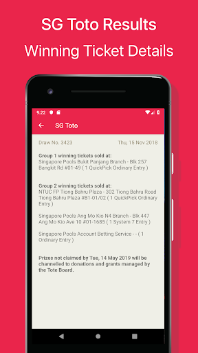 SG Toto Live Results by PENGHUI ZHAO (Google Play, United