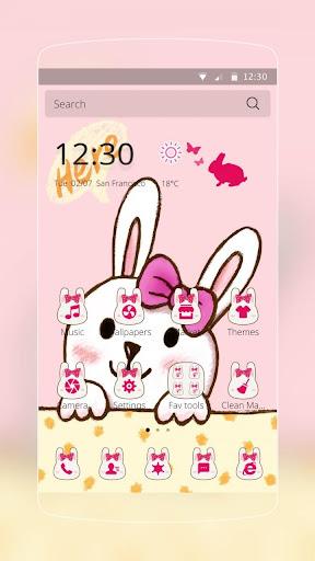 ピンクのウサギの弓