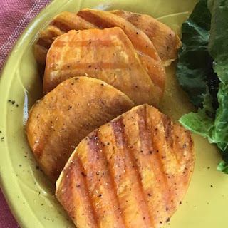 """Gluten Free Sweet Potato """"Steaks"""" (Super Fast)."""