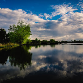 Yankee Hill Lake  by Mike Hotovy - Landscapes Waterscapes