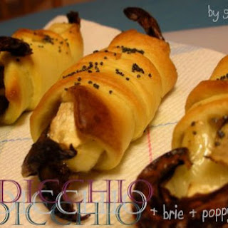 RADICCHIO & BRIE CHEESE ROLLS WITH POPPY SEEDS