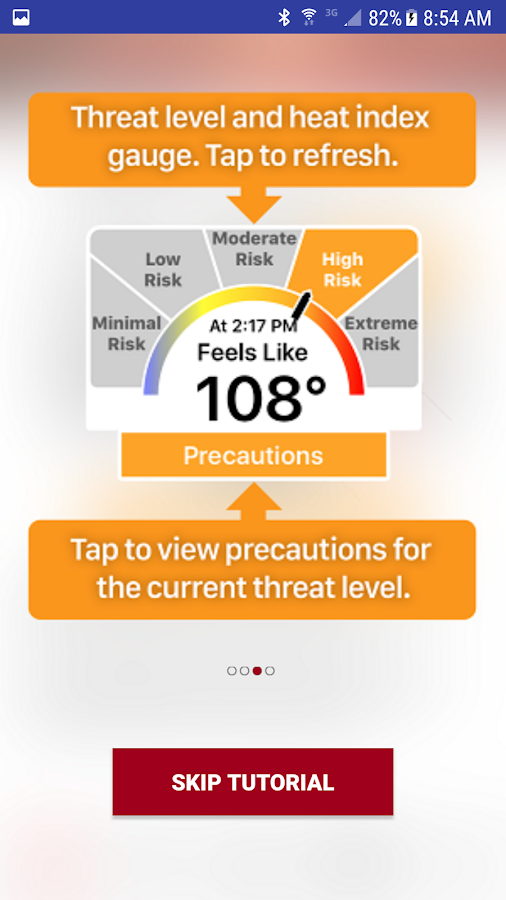 OSHA NIOSH Heat Safety Tool- screenshot
