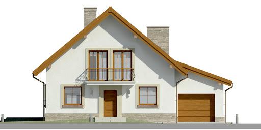 Dom przy Oliwkowej 2 H - Elewacja przednia