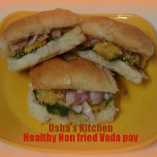 Healthy non fried Vada pav