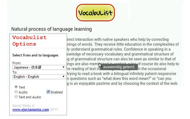 Vocabulist