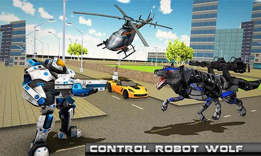 robot hélicoptère transform loup robot futuriste  captures d'écran 3