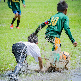 dive in by Empty Deebee - Sports & Fitness Soccer/Association football ( soccer, game, football )