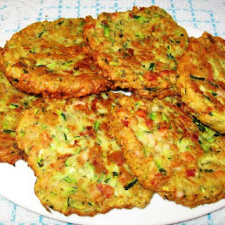 Zucchini,Chorizo and Ham Patties.